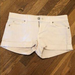 7s white denim shorts